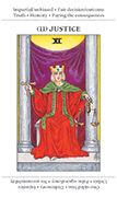 Justice Tarot card in Apprentice deck