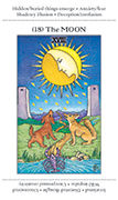 The Moon Tarot card in Apprentice deck