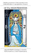 The High Priestess Tarot card in Apprentice deck