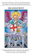 Judgement Tarot card in Apprentice deck