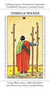 Three of Wands Tarot card in Apprentice deck
