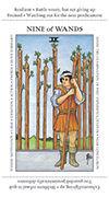 Nine of Wands Tarot card in Apprentice deck