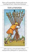 Ten of Wands Tarot card in Apprentice deck
