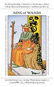 King of Wands Tarot card in Apprentice deck