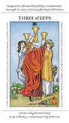 Three of Cups Tarot card in Apprentice deck