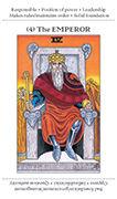 The Emperor Tarot card in Apprentice deck