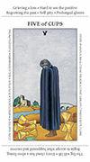 Five of Cups Tarot card in Apprentice deck