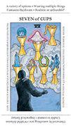 Seven of Cups Tarot card in Apprentice deck