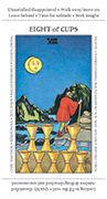 Eight of Cups Tarot card in Apprentice deck