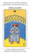 Nine of Cups Tarot card in Apprentice deck