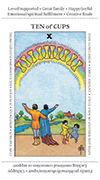 Ten of Cups Tarot card in Apprentice deck