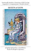 Queen of Cups Tarot card in Apprentice deck