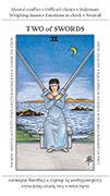 Two of Swords Tarot card in Apprentice deck