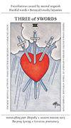 Three of Swords Tarot card in Apprentice deck