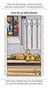 Four of Swords Tarot card in Apprentice deck