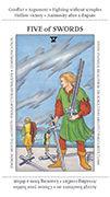 Five of Swords Tarot card in Apprentice deck