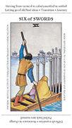 Six of Swords Tarot card in Apprentice deck