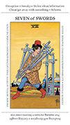 Seven of Swords Tarot card in Apprentice deck