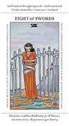 Eight of Swords Tarot card in Apprentice deck