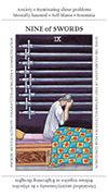 Nine of Swords Tarot card in Apprentice deck