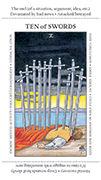 Ten of Swords Tarot card in Apprentice deck