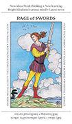 Page of Swords Tarot card in Apprentice deck