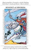Knight of Swords Tarot card in Apprentice deck