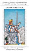 Queen of Swords Tarot card in Apprentice deck