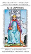King of Swords Tarot card in Apprentice deck