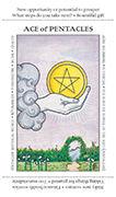 Ace of Pentacles Tarot card in Apprentice deck