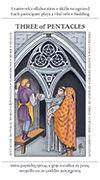 Three of Pentacles Tarot card in Apprentice deck
