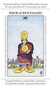 Four of Pentacles Tarot card in Apprentice deck