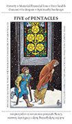 Five of Pentacles Tarot card in Apprentice deck