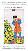 Seven of Pentacles Tarot card in Apprentice deck