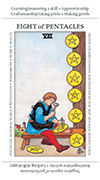 Eight of Pentacles Tarot card in Apprentice deck