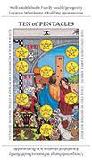 Ten of Pentacles Tarot card in Apprentice deck