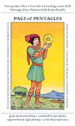 Page of Pentacles Tarot card in Apprentice deck