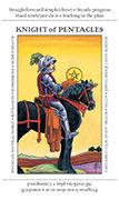 Knight of Pentacles Tarot card in Apprentice deck