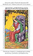 Queen of Pentacles Tarot card in Apprentice deck