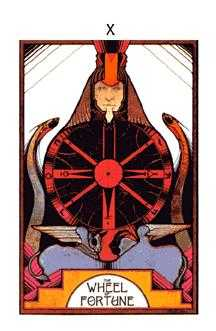 The Wheel of Fortune Tarot Card - Aquarian Tarot Deck