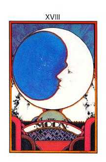 The Moon Tarot Card - Aquarian Tarot Deck