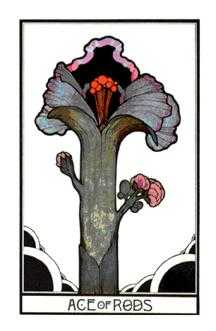 Ace of Rods Tarot Card - Aquarian Tarot Deck
