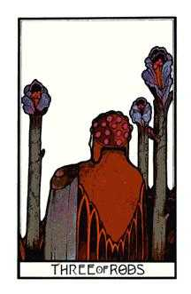 Three of Batons Tarot Card - Aquarian Tarot Deck