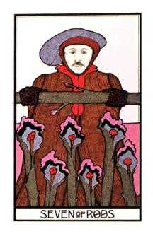 Seven of Pipes Tarot Card - Aquarian Tarot Deck