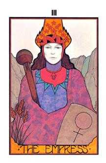 The Empress Tarot Card - Aquarian Tarot Deck