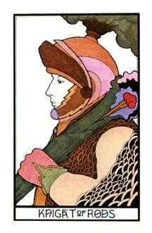 Knight of Rods Tarot Card - Aquarian Tarot Deck