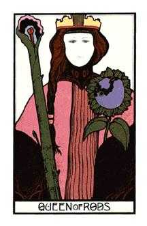 Queen of Rods Tarot Card - Aquarian Tarot Deck