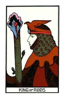 King of Batons Tarot Card - Aquarian Tarot Deck