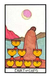 Eight of Bowls Tarot Card - Aquarian Tarot Deck