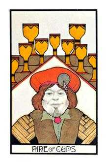 Nine of Hearts Tarot Card - Aquarian Tarot Deck